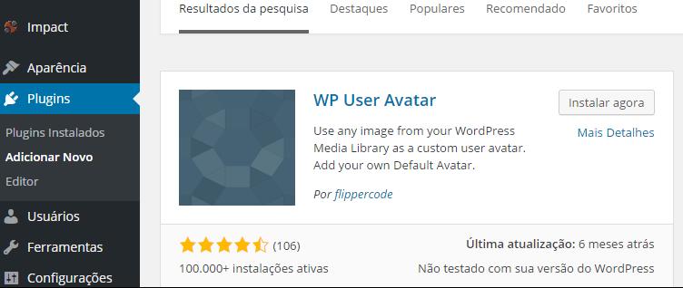 como colocar sua foto no perfil do wordpress